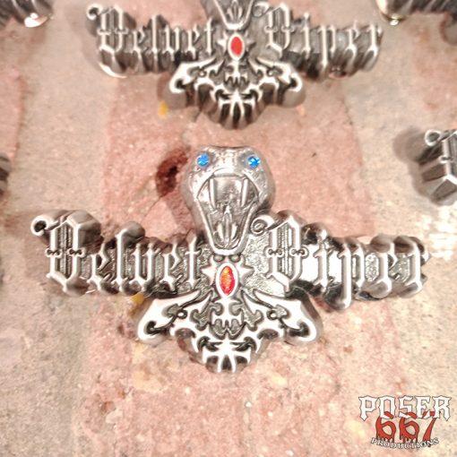 Vellvet Viper 3D Metal Pin Poser667 Productions