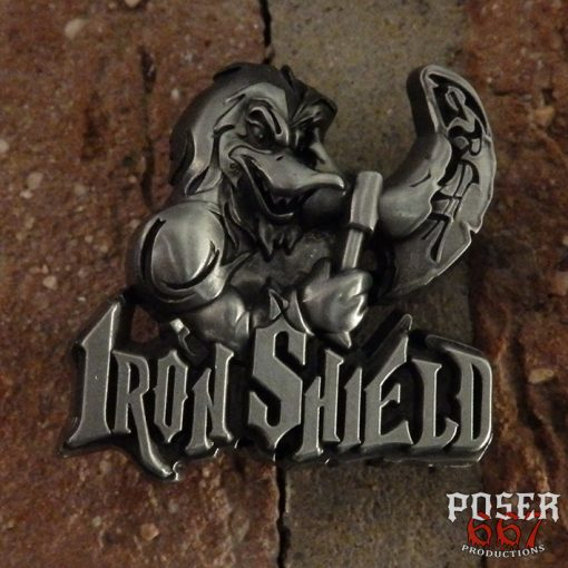 iron shield 3D Metal Pin Poser667 Productions